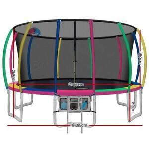 Everfit 16FT Trampoline Round Trampolines Basketball set Kids Mat Net Pad Ladder