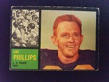 1962 Topps Football Card # 81 Jim Phillips