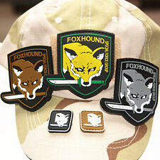 5x METAL GEAR SOLID FOX HOUND TACTICAL USA ARMY MORALE RUBBER PVC PATCH