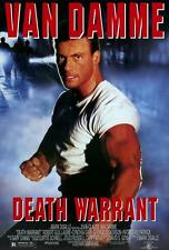 DEATH WARRANT Movie POSTER 27x40 Jean-Claude Van Damme Robert Guillaume Cynthia