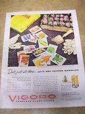 Original 1957 Vigoro Plant Food Magazine Ad - Don't Just Sit There