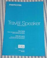 USER GUIDE === Memorex Foldable Travel Speaker (made for iPod) Model Mi2290