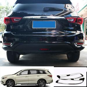 For infiniti QX60 2013-2020 Chrome steel rear L&R Fog Light Lamp cover trim 2pcs