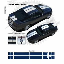 Ford Mustang 2013+ Bumper to Bumper Rally Stripes Graphic Kit - Blue