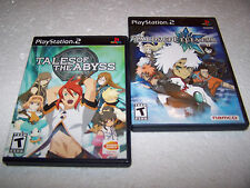 TALES OF THE ABYSS + LEGENDIA - Playstation 2 PS2  USA CANADA NTSC Complete RPGS