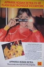 PUBLICITÉ 1979 APPAREIL KODAK EKTRA 22-EF FLASH ELECTRONIQUE - ADVERTISING