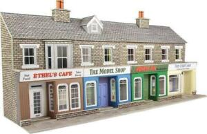 Metcalfe PO273 - Low Relief Stone Shop Fronts - 00 Gauge Card Kit