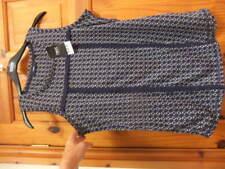 BNWT NEXT size 12 blue cream mix geometric long TOP sleeveless fringe braid trim
