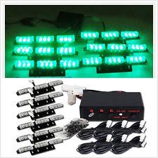 Green 54 LED Flash Emergency Strobe Grill Light Lamp Flashing Warning Waterproof