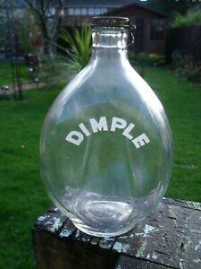 Empty Haig Whiskey Dimple Glass Bottle  Spring Metal Cap ~ John Haig 1920 +