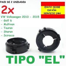 2x Adaptador Bombilla H7 Soporte Sujeción Kit de Led VW Golf 6 Scirocco Touran