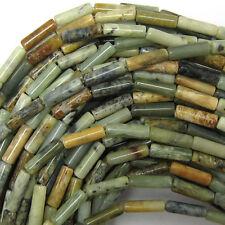 "13mm multicolor jade tube beads 15.5"" strand"
