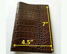 Book Cover Faux leather Crocodile Brown 7×4.5