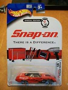 2004 Hot Wheels Snap On Special Edition #1/6 Red 1970 Plymouth Barracuda