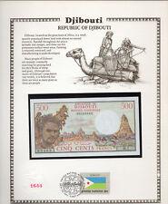 Djibouti 1979 500 Francs P36a Unc w/Fdi Un Flag Stamp Prefix B.1