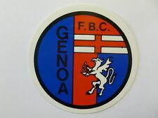 ADESIVO ORIGINALE anni '80 _ F.B.C. GENOA Calcio (cm 9) Sticker Vintage