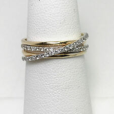 Effy Couture Collection 18K Gold Diamond Bypass Ring (#363)