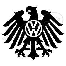 Eagle VW Logo BLACK VINYL STICKER DECAL VW VOLKSWAGEN GTI JETTA BEETLE BUG BUS