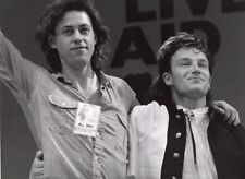 Bono & Geldof Photo Live Aid 1985 Unique Image Unreleased Huge 12Inch Exclusive
