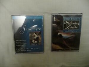 WUTHERING HEIGHTS & JANE EYRE AUDIOBOOK CASSETTE TAPES, EMILY & CHARLOTTE BRONTE
