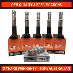 Swan Ignition Coil & NGK Spark Plug Pack for Volkswagen Passat V5 2000-2005 2.3L