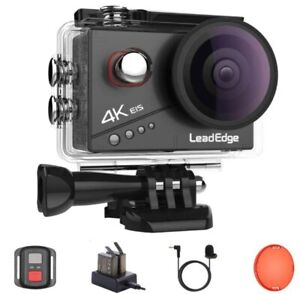 Leadedge Action Kamera 4k 20mp Eis Anti-Shake externes Mikrofon Red Filter 2.0