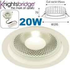 Knightsbridge 20 W COB Led Luz Empotrada de Techo Regulable Shop Downlight Montaje