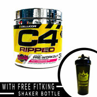 Cellucor C4 Ripped Ultra Frost Pre-Workout + Fitking Shaker Bottle - COMBO SALE
