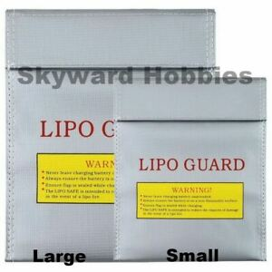 LIPO SAFE BAG FOR CHARGING AND STORAGE OF RC BATTERIES - SET OF 2