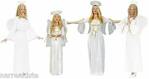 Engel Engelchen Angel Elfe Fee Kostüm Damen Heiligenschein Kleid Engelkostüm