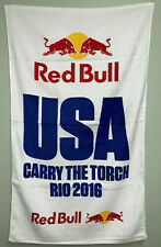 "RARE - Red Bull Towel - USA Rio 2016 - 24""x42"" Velour Towel"