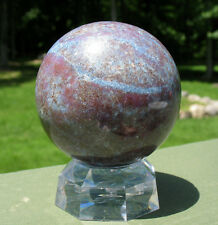 Large Ruby & Kyanite Crystal Ball / Sphere