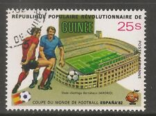 Guinea #C156 (A123) VF USED CTO 1982 - 25s World Cup Soccer / Soccer Players