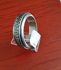 MEN HIGH QUALITY 925 STERLING SILVER PLAIN BAND SPINNER RING SIZE 12 MEXICO