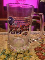 Denver broncos 32 ounce glass mug super bowl 32 champions 1998 preowned