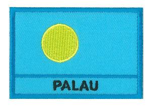 Patch insigne écusson patche drapeau Palaos 70 x 45 mm Pays Monde brodé