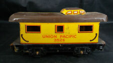 Marx O Scale Mar Lines Model Train YELLOW CABOOSE, UNION PACIFIC  3824- TIN