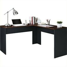 Ameriwood Home The Works L-Shaped Desk, Cherry/Gray
