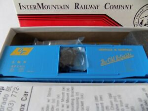 HO SCALE  50 FT. PS1 BOX CAR FOR L&N RR.  BY INTERMOUNTAIN KIT NIB