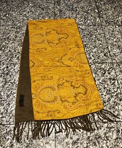 ETRO Wool Cashmere Reversible Paisley Scarf