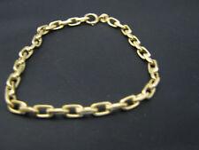 Gold Oval Link Bracelet c777 Beautiful 18k Yellow