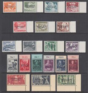 Switzerland Sc 7O1-7O20 MNH. 1950 UN European Office overprints, cplt set, VF+