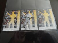 1995 FUTERA CRICKET SAMPLE GREG CHAPPELL SIGNATURE CARD. 3 CARD SET