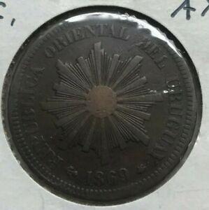 1869 A Uruguay 2 Centesimos
