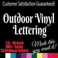 Custom Outdoor Vinyl Lettering. Window Truck Jeep Decal Sticker