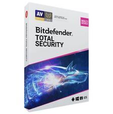 🔥 Bitdefender Total Security 2021 5 Devices 1 year Genuine Unique Key VPN 🔥