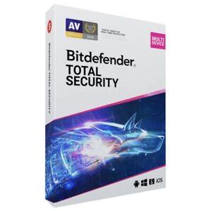 🔥 Bitdefender Total Security 2021 5 Devices 1 year Genuine Unique Key VPN 🔥