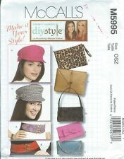 McCall's 5995 Pattern Accessories ~ Hat, Bags & Belts ~ Diy Make it Your Style