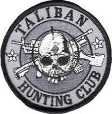 Iron On/ Sew On Embroidered Patch Badge Taliban Hunting Skull & Guns Skull Biker