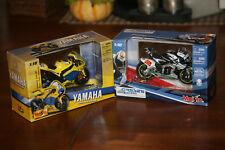 2007 Maisto 1/18 diecast YAMAHA YZR-M1 & HONDA RC212V Motorcycle #5 & # 33 Lot 2